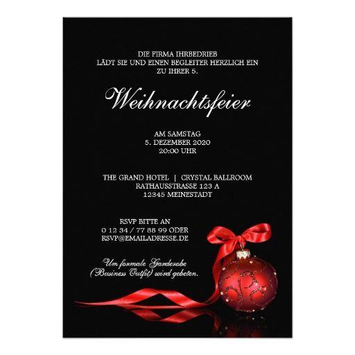 Geschäfts Weihnachtsfeier Einladung Vorlage | Weihnachtsfeier ...