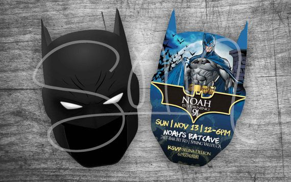 NEW Evite Batman Custom Birthday Invitations Digital Gotham City Joker Harley Quinn