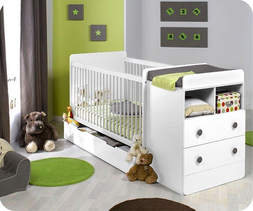 Lovely Mitwachsendes Babybett Malte mit Wickelkommode f r kleine Babyzimmer erweitert sich als Kinderbett Exklusiv auf monpetit kinderzimmer de