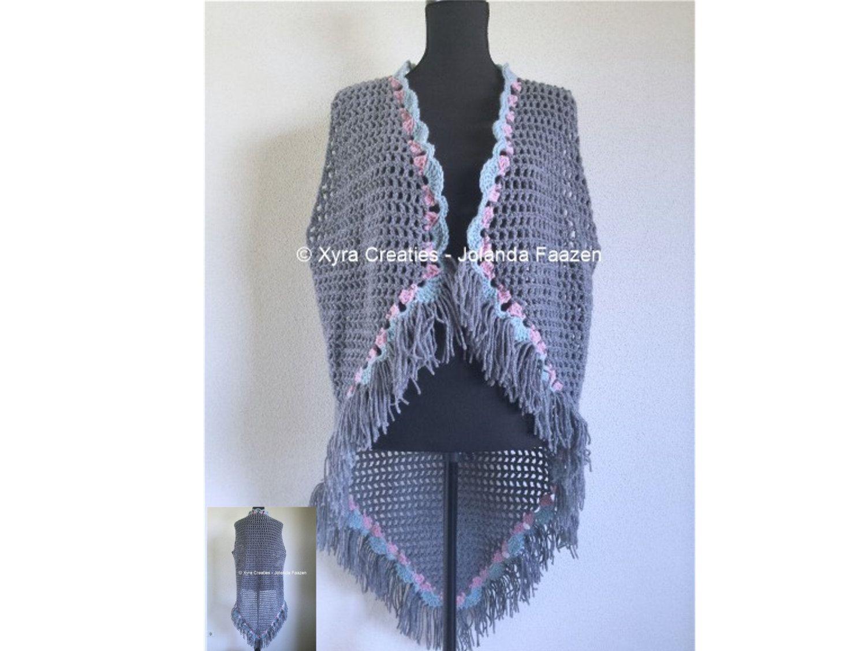 Uitgelezene PATR1067 - Xyra Crochet-pattern - Long gilet / vest without ZS-95