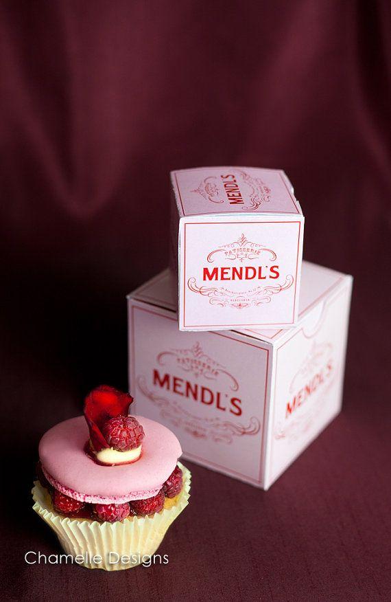 Grand Budapest Hotel Mendl's Patisserie Box download printable template pdf