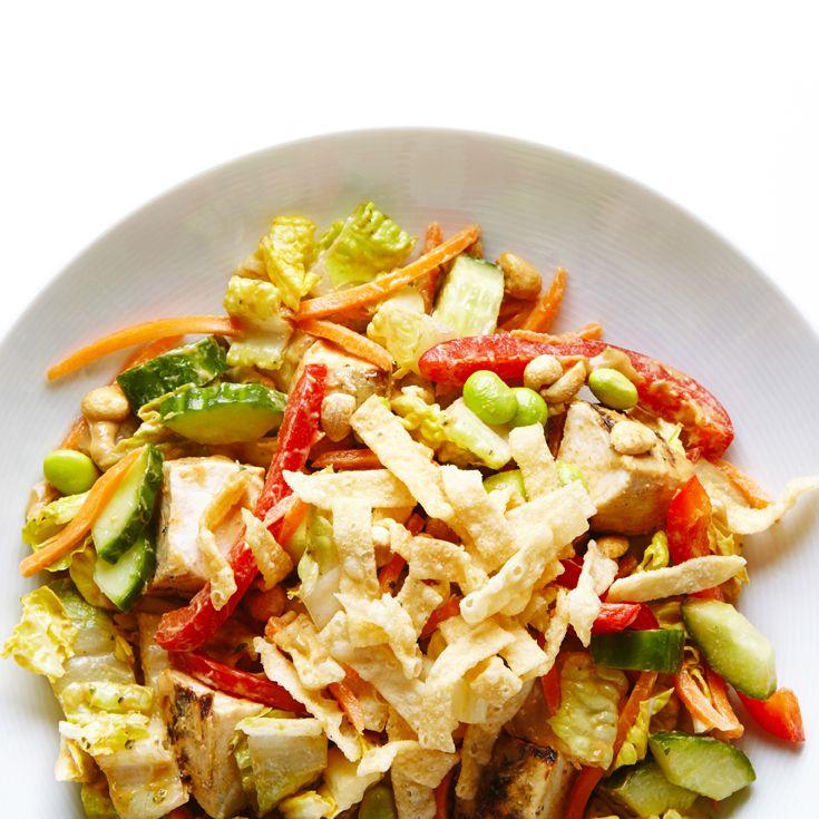 Nutty Asian Chicken Salad #BiteMeMore #recipes