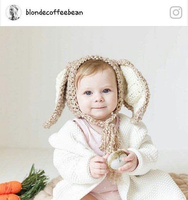 33cefd118d2 Baby bunny bonnet
