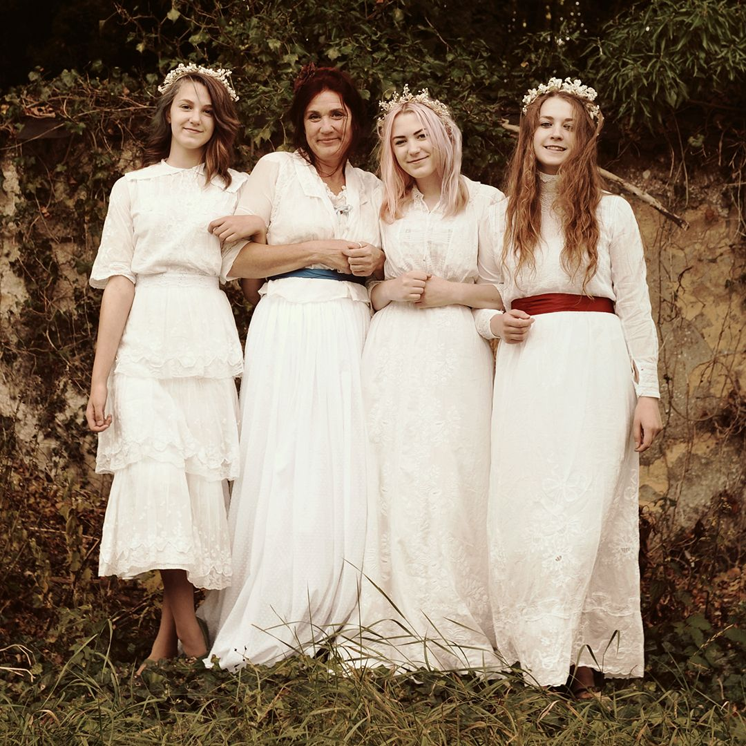 Edwardian lace vintage wedding dresses with sleeves vintage