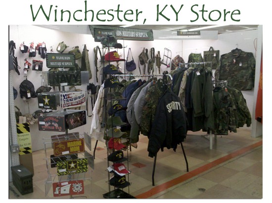 Major Dads Military Surplus has LOTS of great stuff in Peddler's Malls around KY!