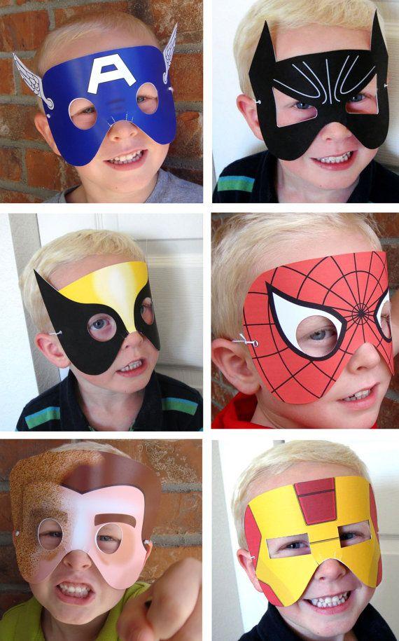 Maschere supereroi artigianato per bambini pinterest for Maschere stampabili