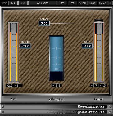 Renaissance Axx Guitar Compressor Plugin Waves Guitar Compressor Waves Waves Audio