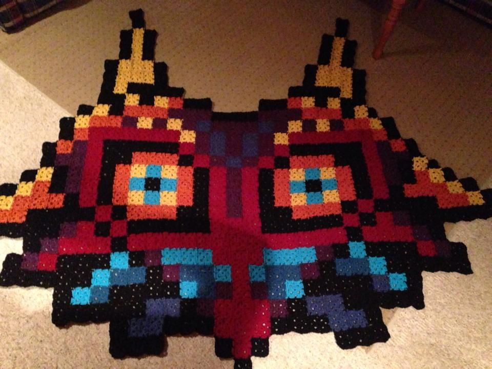 recession-royalty: My crochet Majora\'s Mask blanket! Omg. This is ...