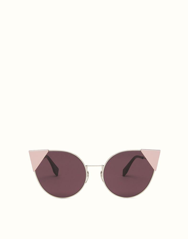 fc799a2da7 FENDI LEI - lunettes de soleil en métal finition palladium   Hlow's ...