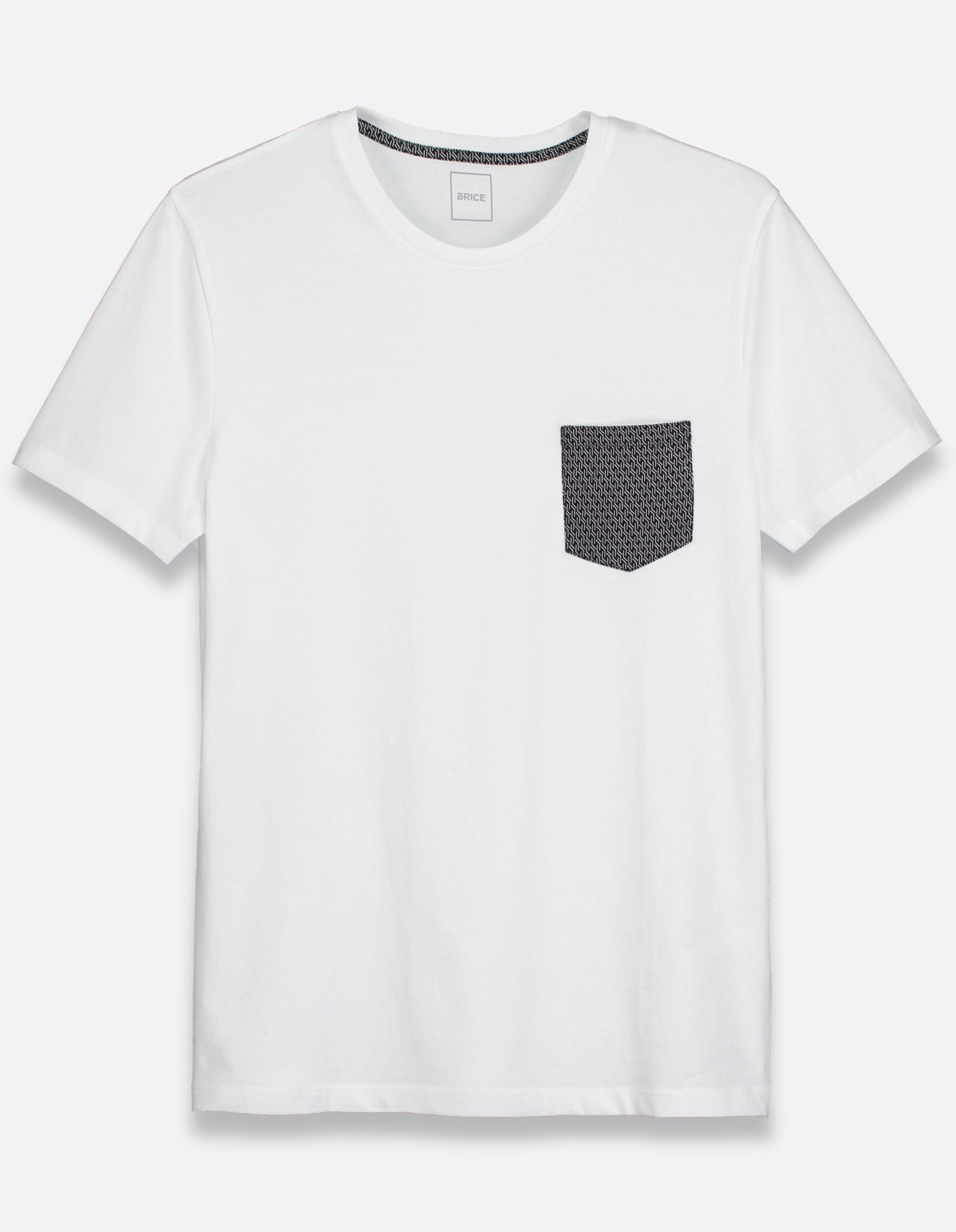 4eccbd06743 Tee-shirt homme blanc col rond uni - Brice