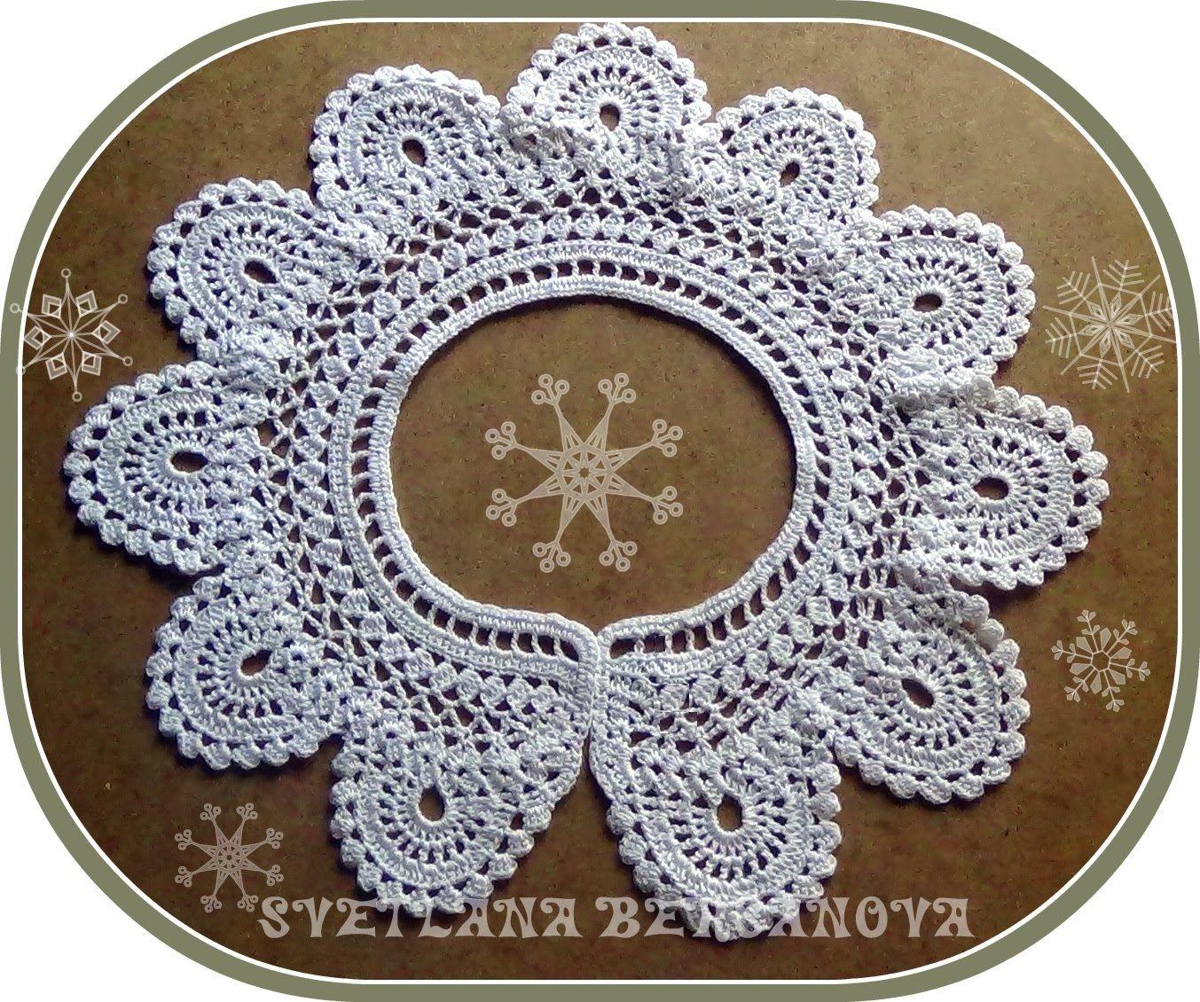 кружевной воротничок вариант 2 Crocheted Collar воротники