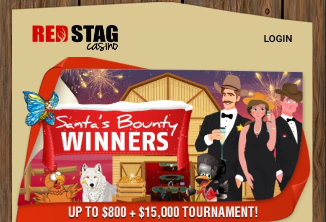 Latest Red Stag casino bonuses 2019. 400% match and free spins New Year bonus