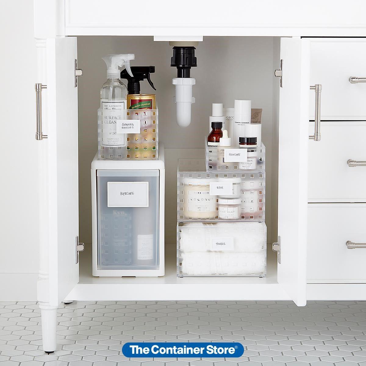 Like It Under The Sink Starter Kit In 2020 Container Store Under Sink Organization Bathroom Storage Cabinet