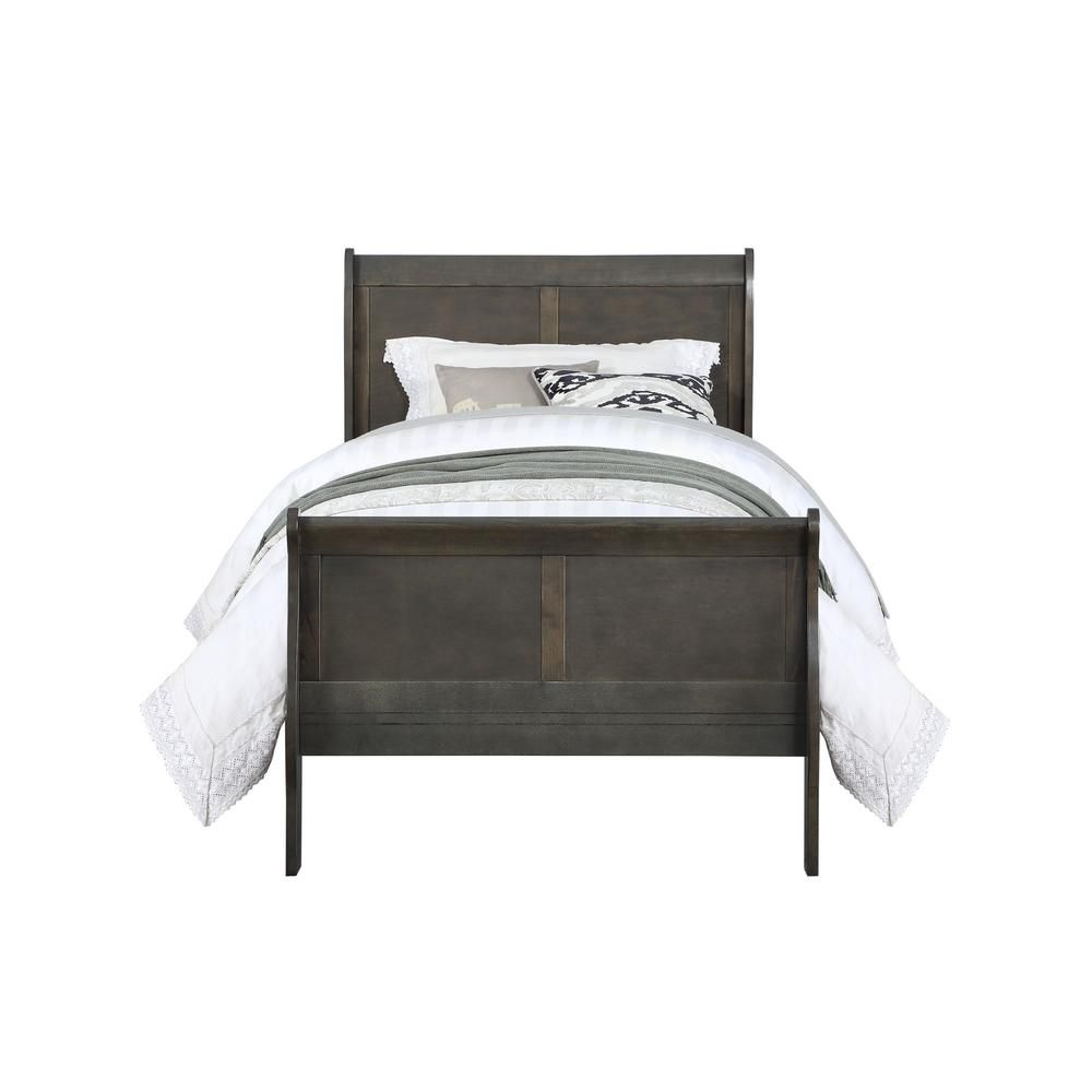 Best Acme Furniture Louis Philippe Dark Gray Twin Bed Acme 640 x 480