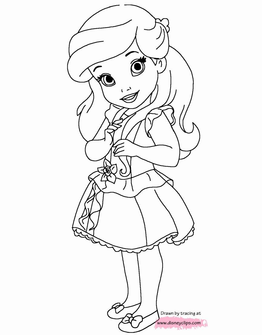 Baby Disney Princess Coloring Pages Elegant Disney Little Princesses Printable Co Princess Coloring Pages Disney Princess Coloring Pages Disney Princess Colors