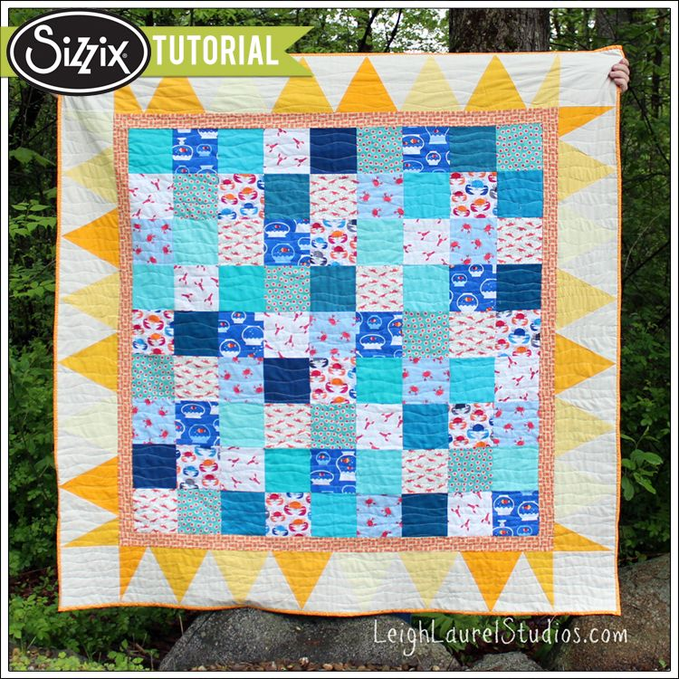 Sizzix Tutorial | Sun and Sand Quilt by Karin Jordan. I like the ...