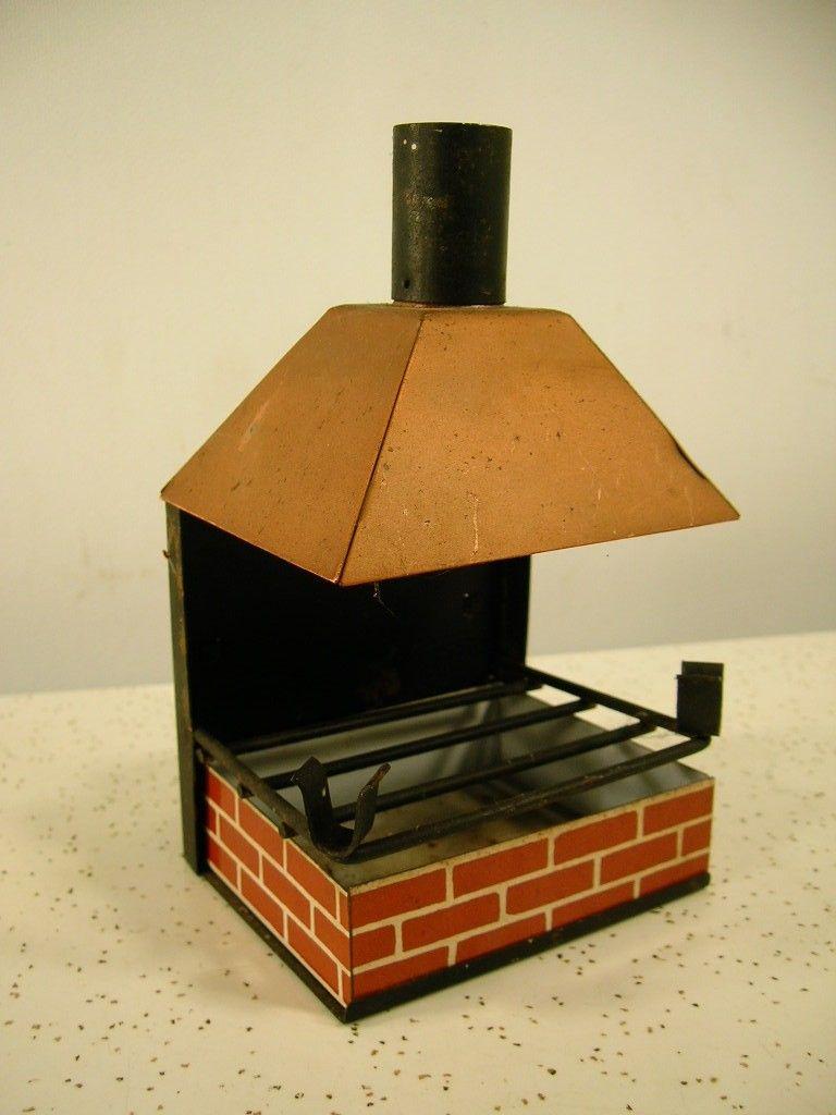 Vtg. BBQ Brick Patio Grill NOVELTY ASHTRAY/CIGARETTE HOLDER Smoking Chimney