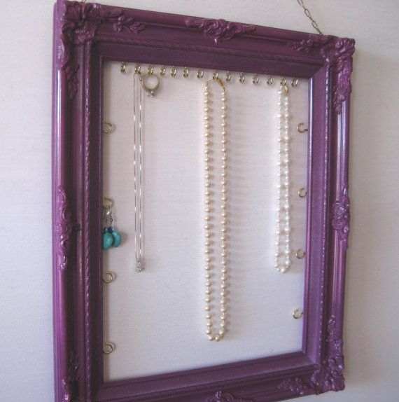 Hanging Jewelry Display & Organizer Handpainted in by ByTheBirds ...