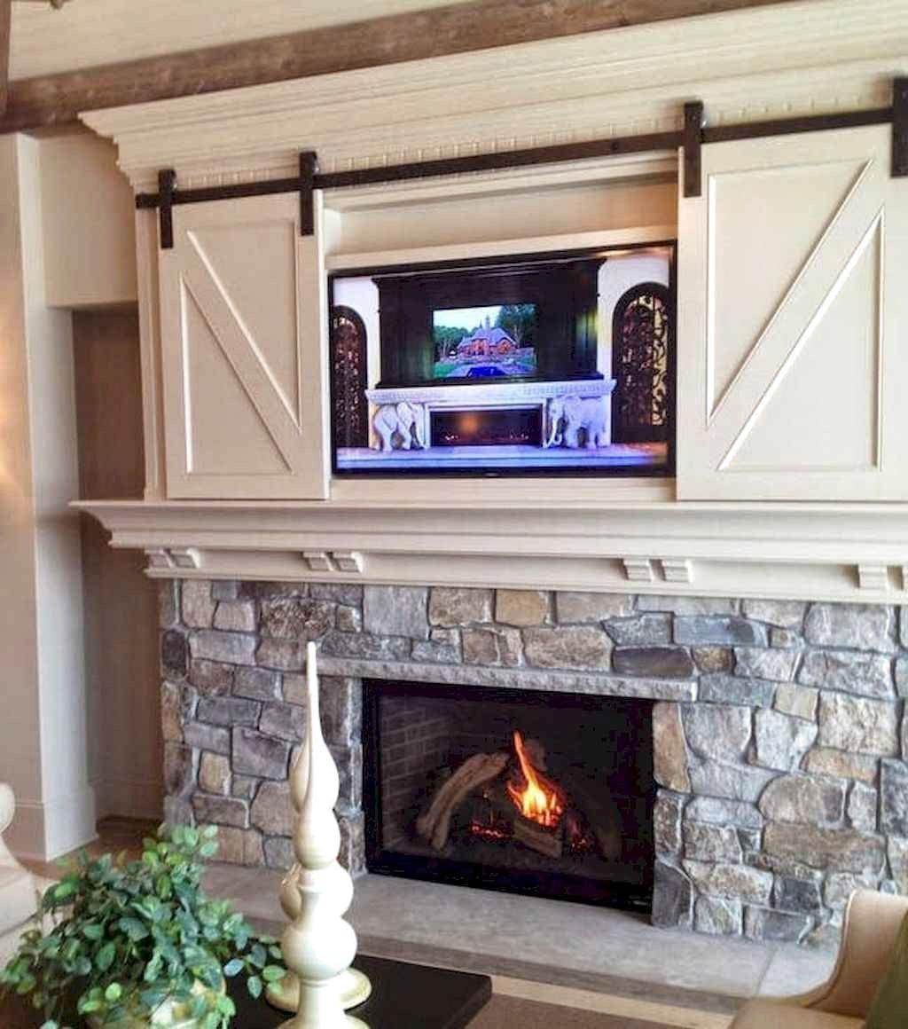 40 Awesome Farmhouse Fireplace Decor Ideas And Remodel Farmhouse