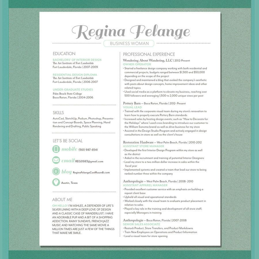 resume sample the central perk by luzartegraphicdesign on etsy rh pinterest com