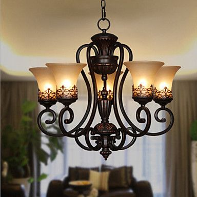 60 Chandelier Vintage Country Island Painting Feature For Candle Style Meta