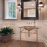 Bayshore drive - traditional - powder room - orange county - Patterson Custom Homes