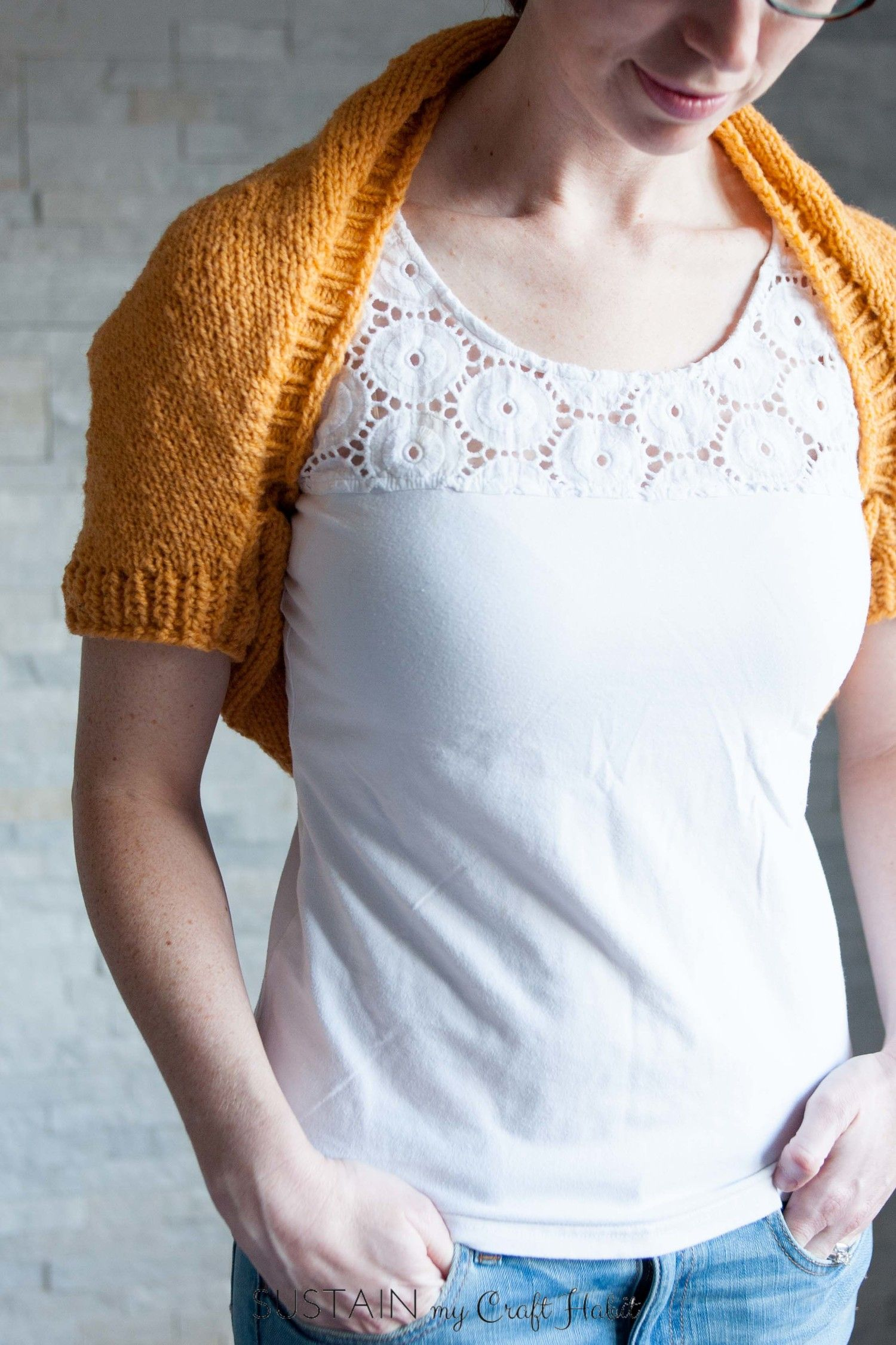 Simple sunrise shrug free knitting pattern knit shrug knitting beautiful and bright simple sunrise shrug free knitting pattern from sustainmycrafthabit this lightweight wool knit bankloansurffo Image collections