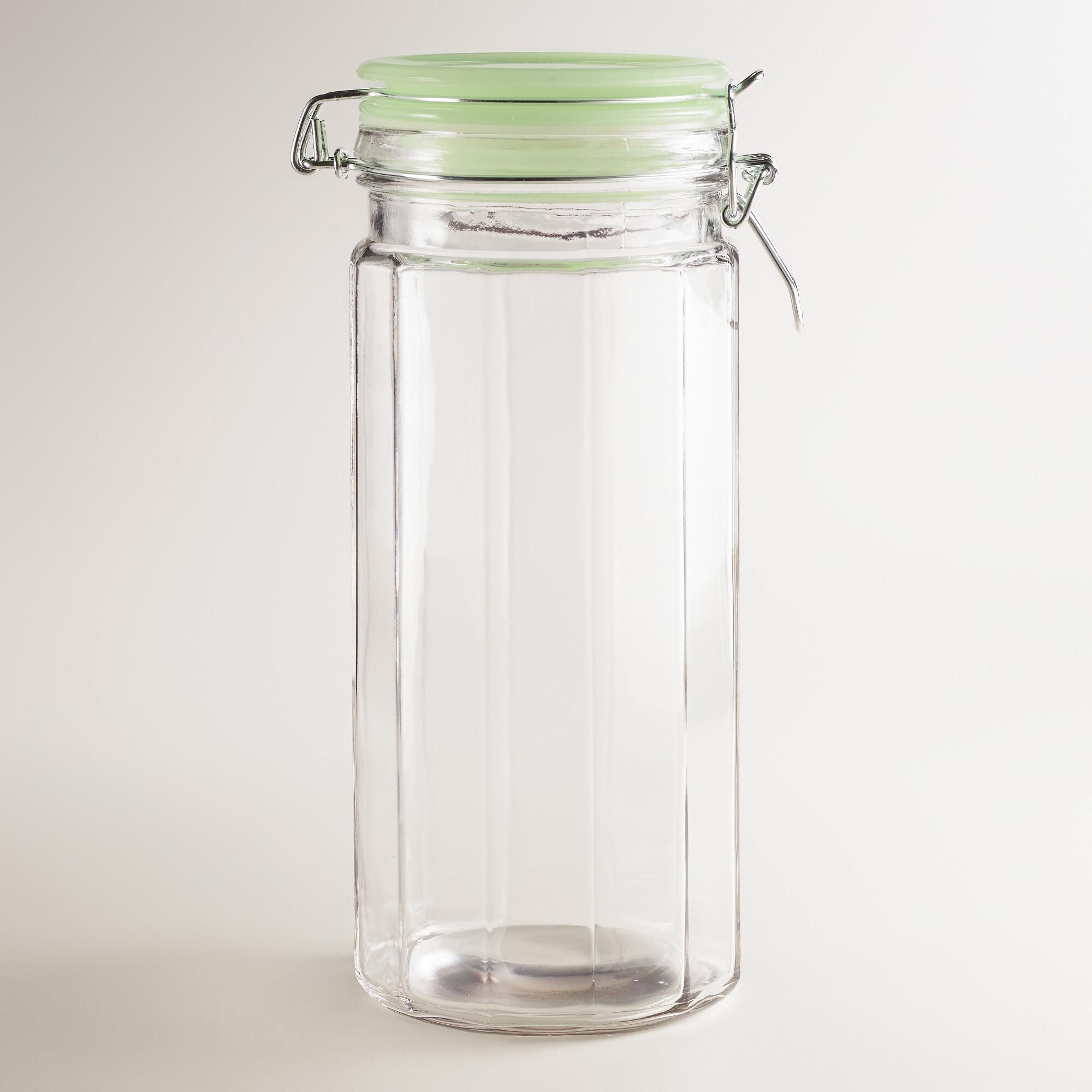 Glass Canisters With Clamp Lids