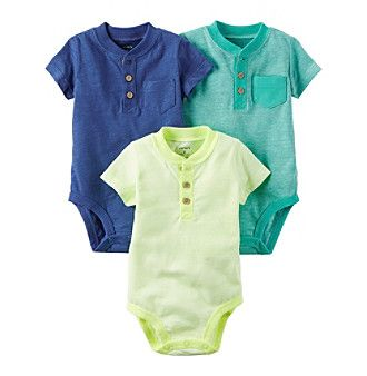 Carter's® Baby Boys' 3 Pack Bodysuit Set