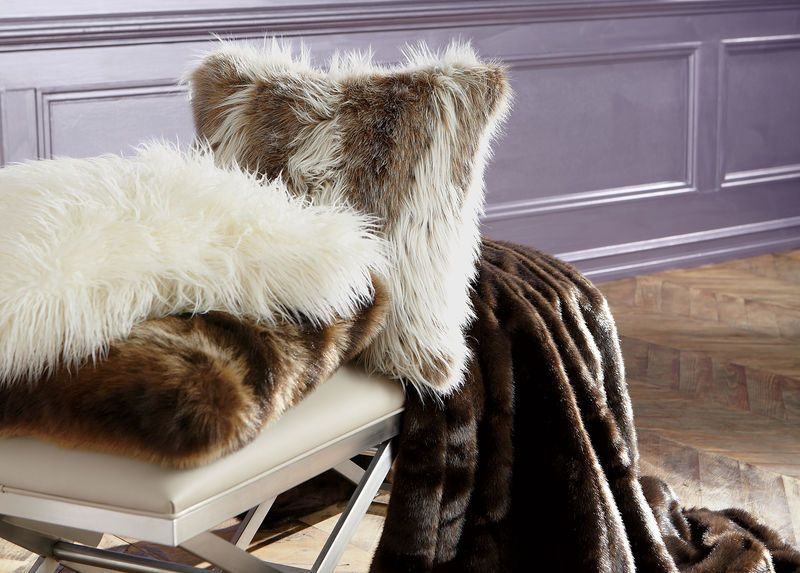 Stay warm this winter with our Sable Faux Fur Throw!