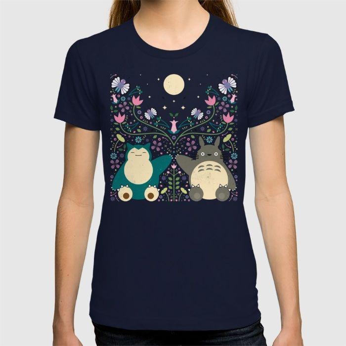6066c91c Totoro & Snorlax Forest Friends Shirt - $24 - Studio Ghibli Gifts ...