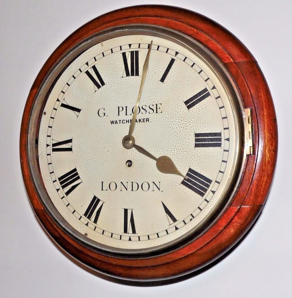 Antique London Fusee Gallery Wall Clock With G Plosse Watchmaker Dial With Images Gallery Wall Clock Wall Clock Gallery Wall