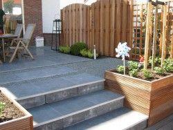 Tuin En Terras Tegels En Stenen.Stenen Trap Met Tegels Tuinideeen In 2019 Interior Garden