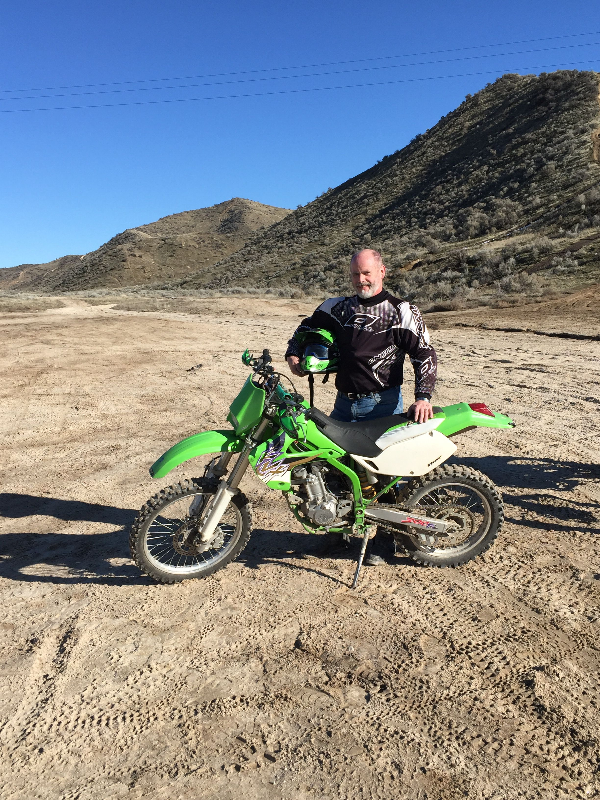 Kevin with KLX 300