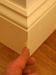 Applying Wood Filler To Gaps On Outside Corners Of Trim Wood
