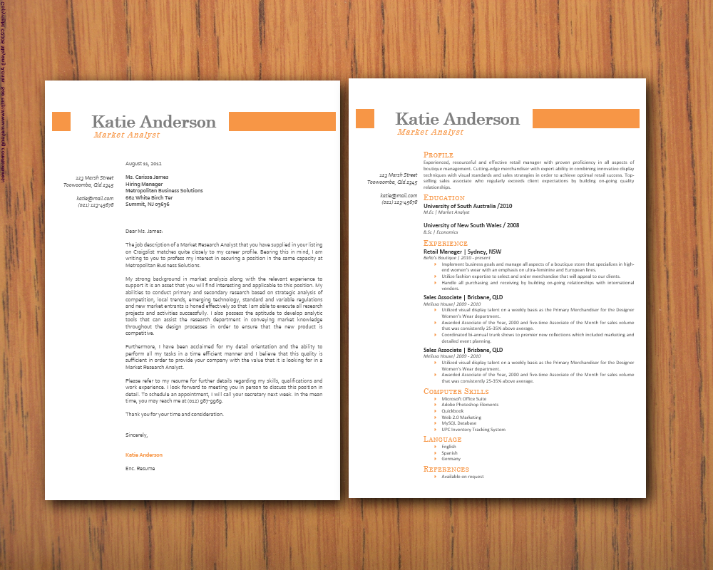 Modern Microsoft Word Resume (1 and 2 pages) and Cover Letter ...