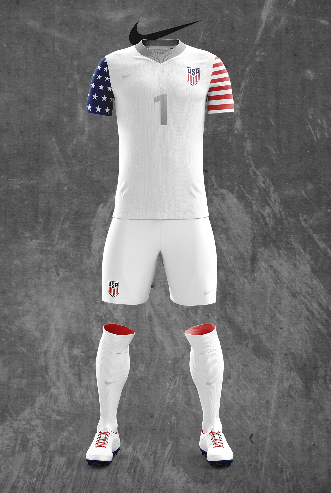 concept us mens national team nike soccer kit designs on