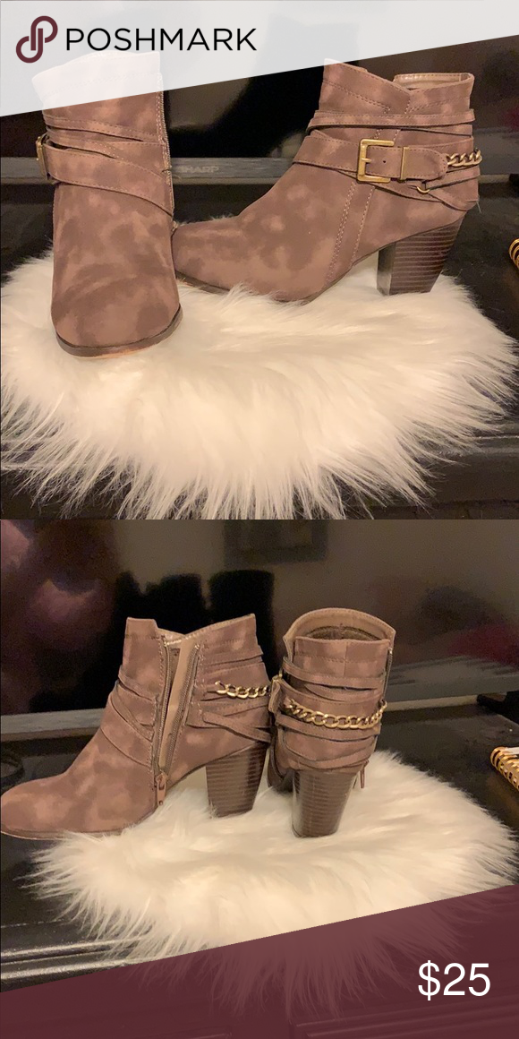 bed35758e369 Brown booties Cute brown booties. Worn twice. Good condition. Charlotte  Russe Shoes Ankle Boots   Booties