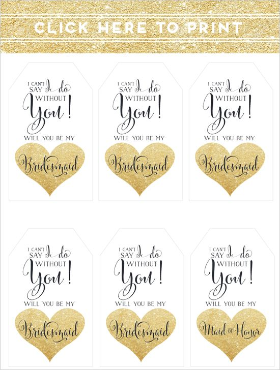picture regarding Free Printable Bridesmaid Proposal called Basic Will By yourself Be My Bridesmaid Strategy + Cost-free Printable