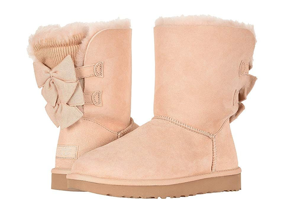 162a32a9753 UGG Bailey Bow Short Ruffle Women's Pull-on Boots Amberlight in 2019 ...