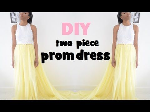 DIY | HOW TO MAKE A TWO PIECE PROM DRESS/GOWN - YouTube | costura ...