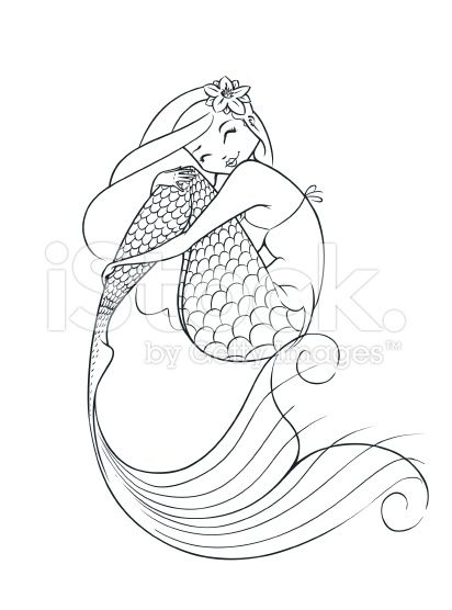 mermaid fairy-tale character vector illustration isolated ...