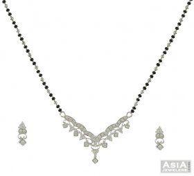 cf0428f559ba5 Mangalsutra Set (White Gold) | Dazzzledd | Bollywood jewelry ...
