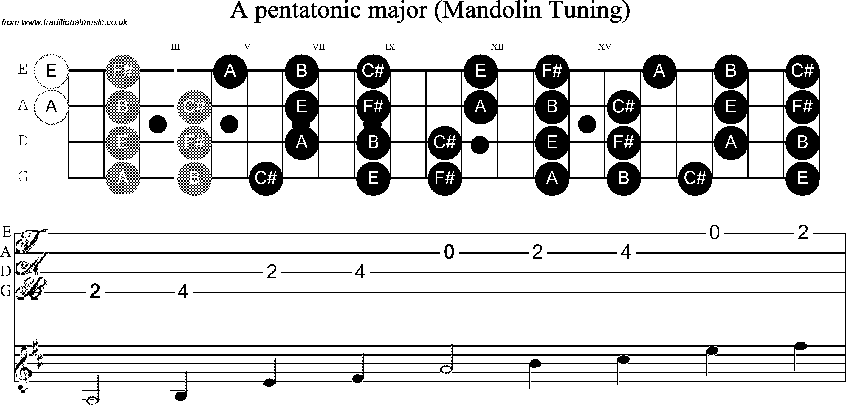scale stave and neck diagram for mandolin scale a pentatonic rh pinterest com diagram of a [ 2838 x 1359 Pixel ]
