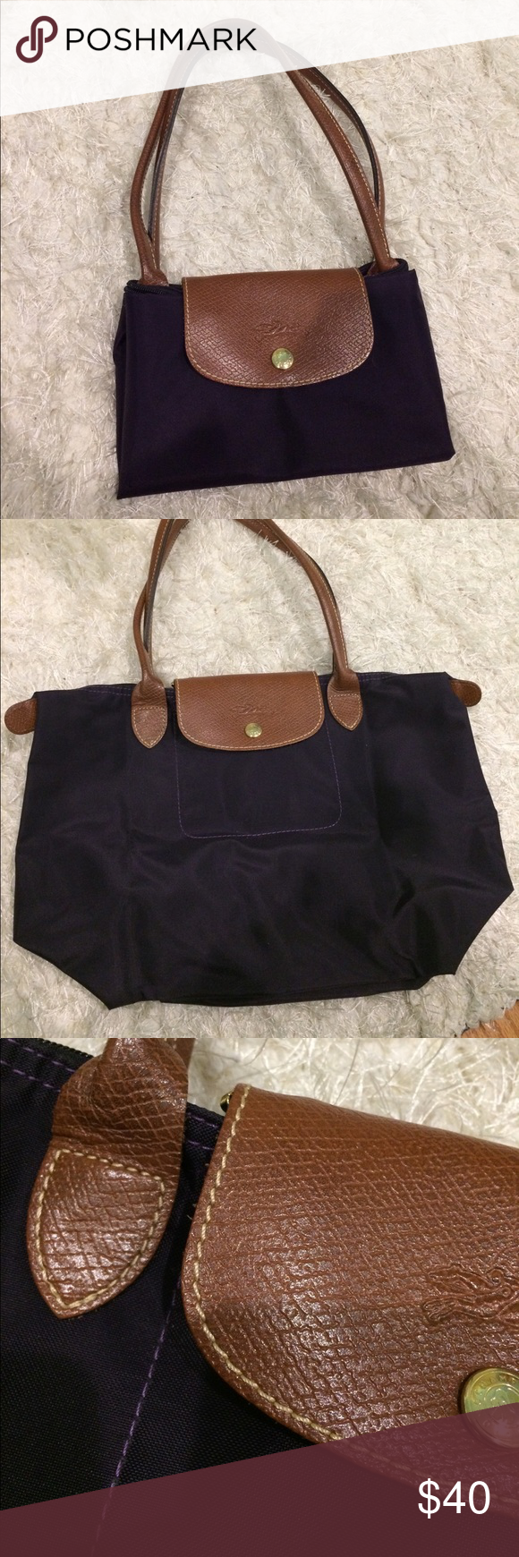 LONGCHAMP purple tote LONGCHAMP. Gently used. Purple. Purchased in France. Longchamp  Bags c8539176ab