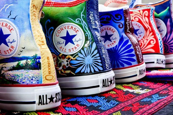 Tenis converse pintados por artesanos mexicanos  de2db225f