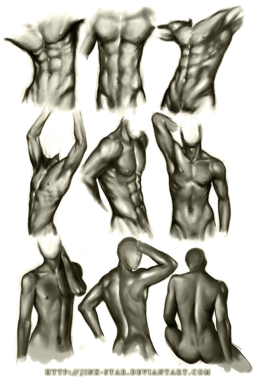 MALE BODY STUDY by jinx-star on Deviant Art http://jinx-star.devian ...