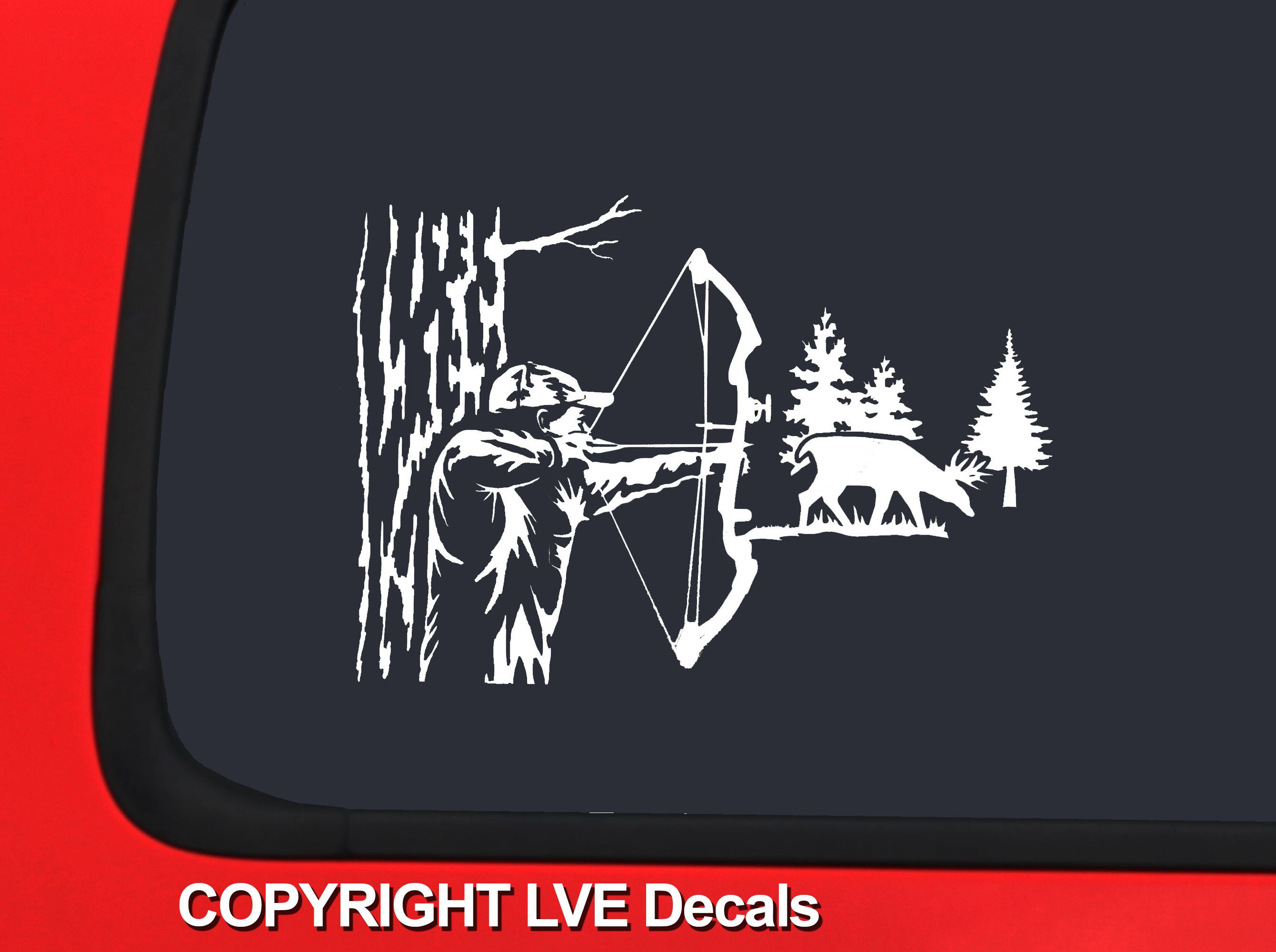 Bow Hunter Google Search Deer Hunting Silhouettes Vectors - Hunting decals for truckshuntingfishing window decals in white or camouflage at woods