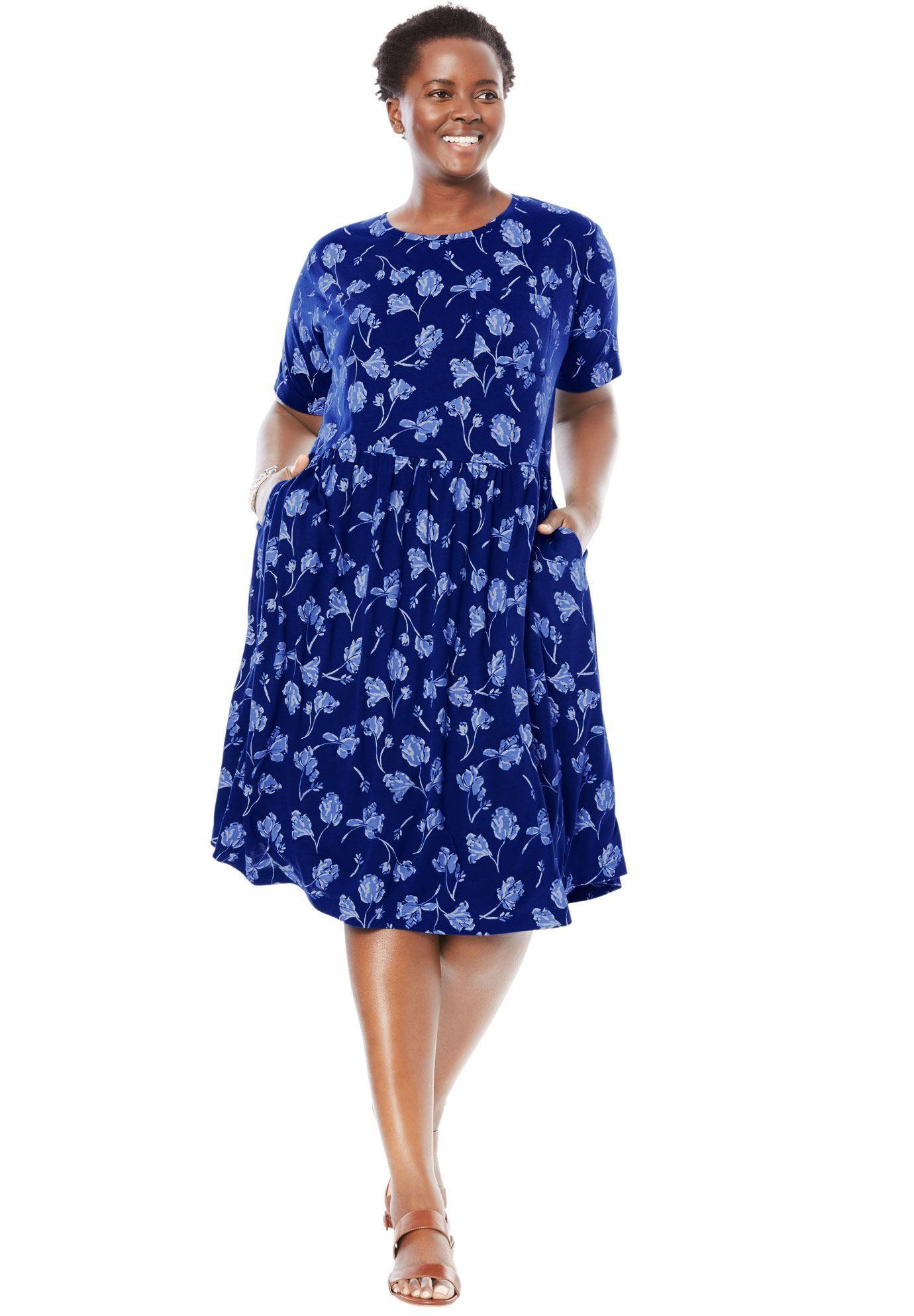 075191495ec Flounce Tee Dress - Women s Plus Size Clothing