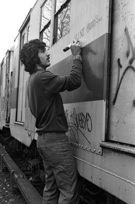 Dicing with death the original New York graffiti artists \u2013 in pictures